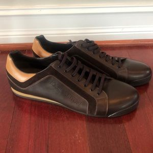 Louis Vuitton leather dress sneakers